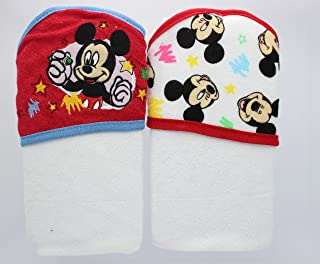 Disney Baby - Hooded Towels (Red - Mickey Mouse)