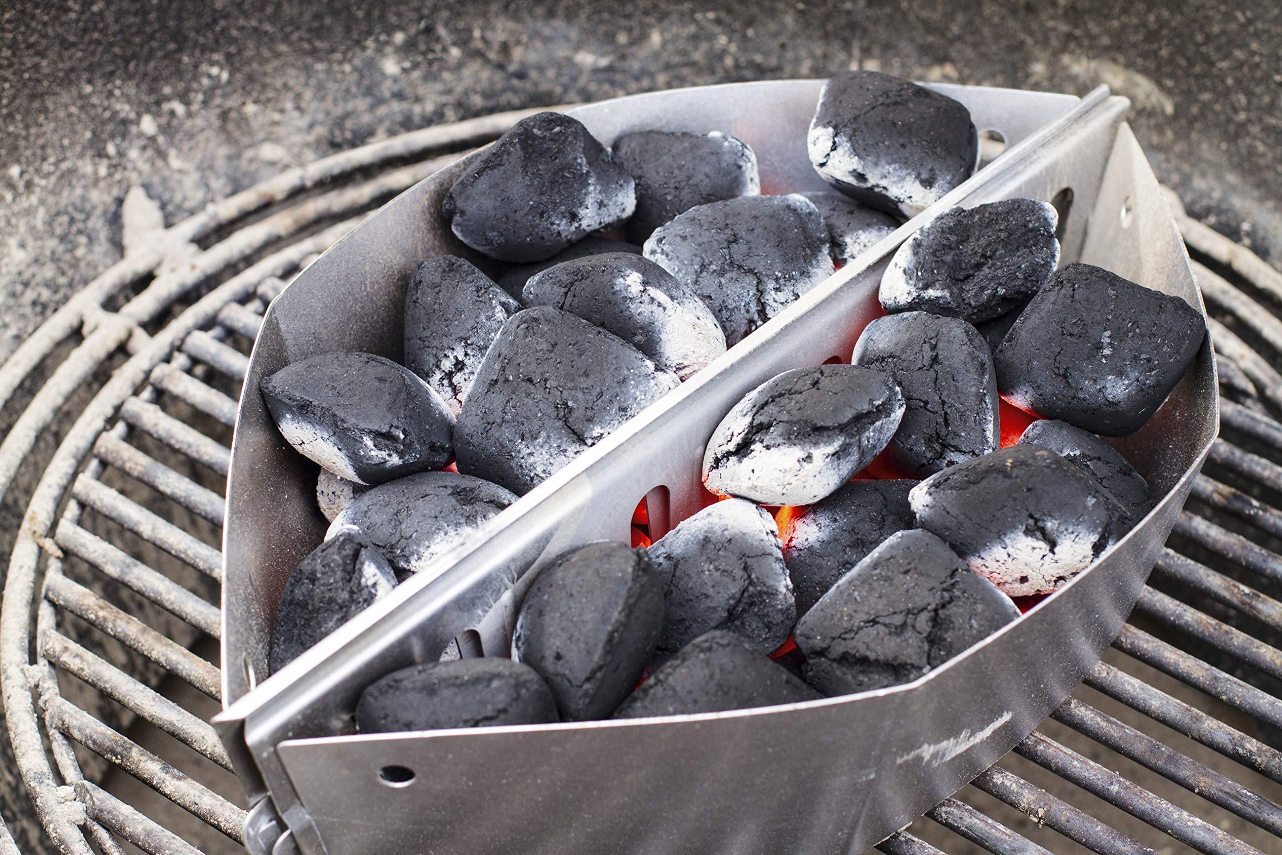 WEBER CESTI PORTACARBONE PER BBQ ONE TOUCH D 57 SET 2 PEZZI