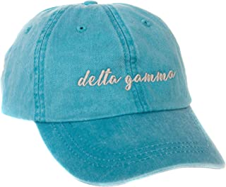 Delta Gamma (N) Sorority Baseball Hat Cap Cursive Name Font dg