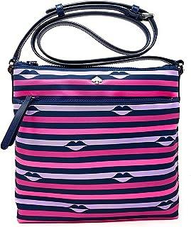 Kate Spade New York Jae Nylon Flat Crossbody Bag (Pink Multi)