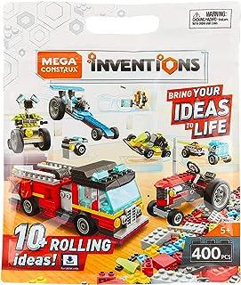 Mega Construx Inventions Wheels Pack, 400 Pieces Building Set for Kids 5-9
