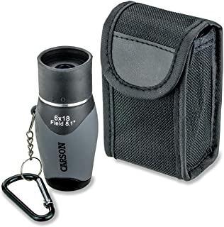 Carson MiniMight 6x18mm Pocket Monocular with Carabiner Clip (MM-618)