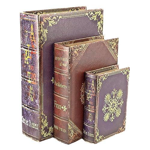 Decorative Wood Book Box Amazon Com