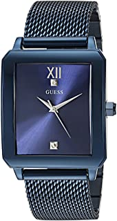 GUESS Men's Stainless Steel Steel Diamond Dial Watch