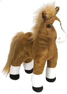 "Wild Republic Standing Brown Horse, Stuffed Animal, Plush Toy, Gifts for Kids, Cuddlekins, 12"""", Multi (16994)"