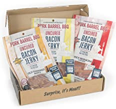 Man Crates Bacon Jerkygram with 3 Flavors of Delicious, Gourmet Bacon Jerky - Great Gifts for Men