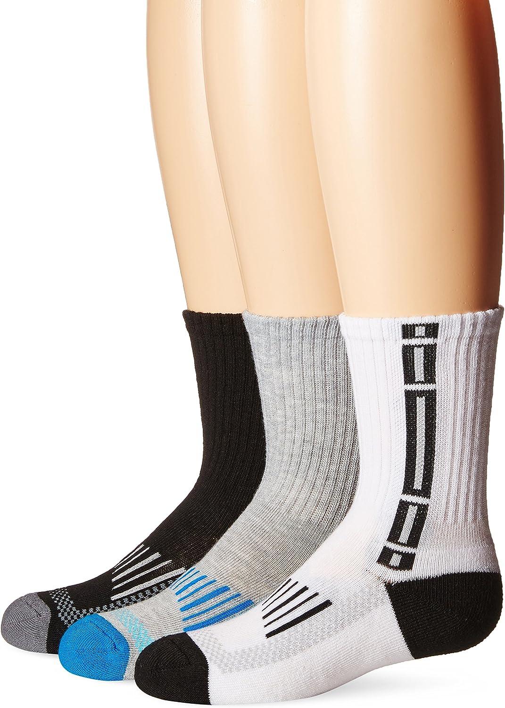 Jefferies Socks Girls' Sport Tech Crew Half Cushion Socks 3 Pair Pack