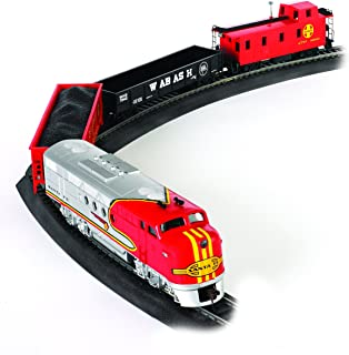 Bachmann Trains - Santa Fe Flyer Ready To Run Electric Train Set - HO Scale