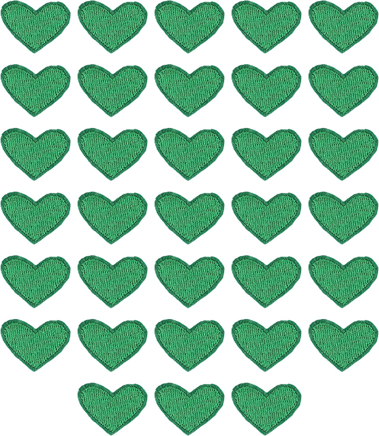 MSCFTFB 33 Pieces Small Heart Iron Mail order cheap Embroidered Sew Cheap mail order shopping Patches Pa on
