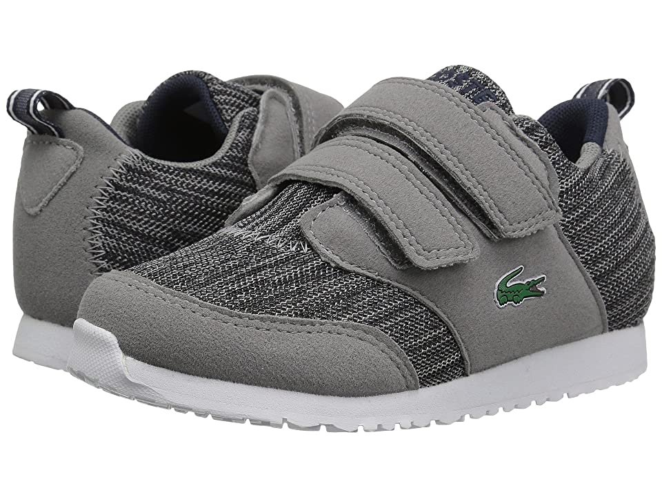 Lacoste Kids L.ight (Toddler/Little Kid) (Dark Grey/Navy) Kids Shoes