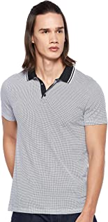 Armani Exchange Men's 3GZF93 Polo Shirt, Multicolour (Diamond B & White 5142), Large