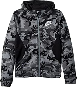 NSW Club Fleece Full Zip Camo Print Hoodie (Big Kids)