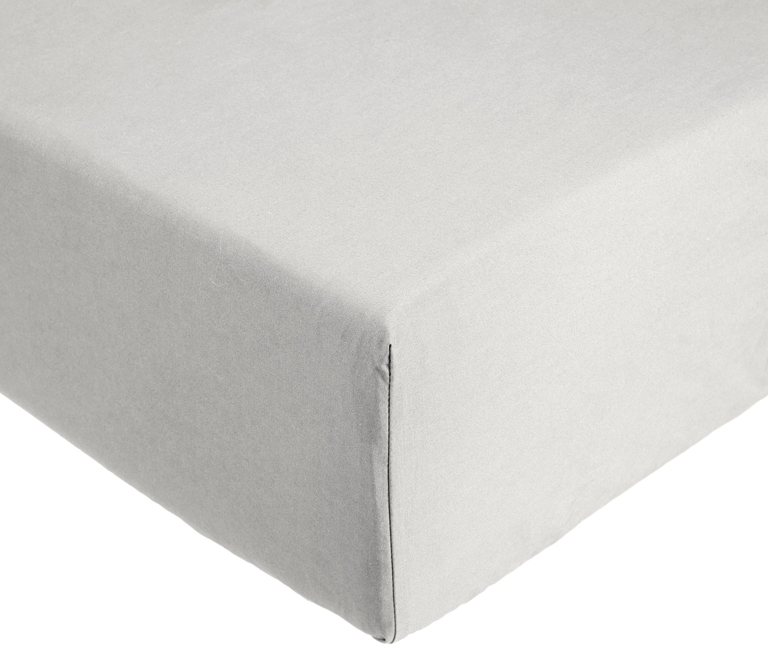 AmazonBasics Everyday - Sábana bajera ajustable (100% algodón) Gris claro - 135 x 190 x 30 cm: Amazon.es: Hogar