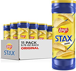 Lay's Stax Potato Crisps, Original, 5.75 Ounce (Pack of 11)