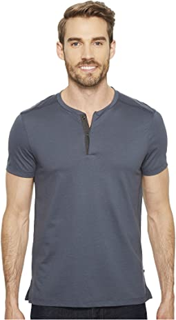 Calvin Klein Shoulder Piping Hidden Placket Henley