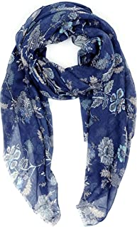 Scarves for Women Lightweight Floral Flower Fall Winter Fashion wrap by MIMOSITO