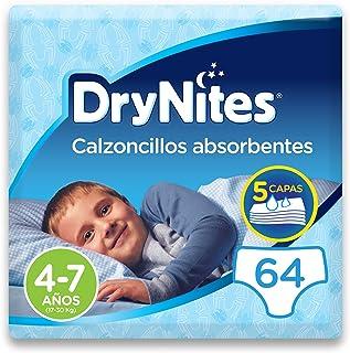 comprar comparacion DryNites - Calzoncillos absorbentes para niño - 4 - 7 años (17-30 kg), 4 paquetes x 16 uds (64 unidades)