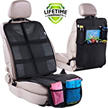 Car Seat Protector + Rear Seat Organizer For Kids – Waterproof & Stain..