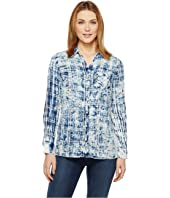 Tribal - Cotton Gauze Shirt with Patch Pocket
