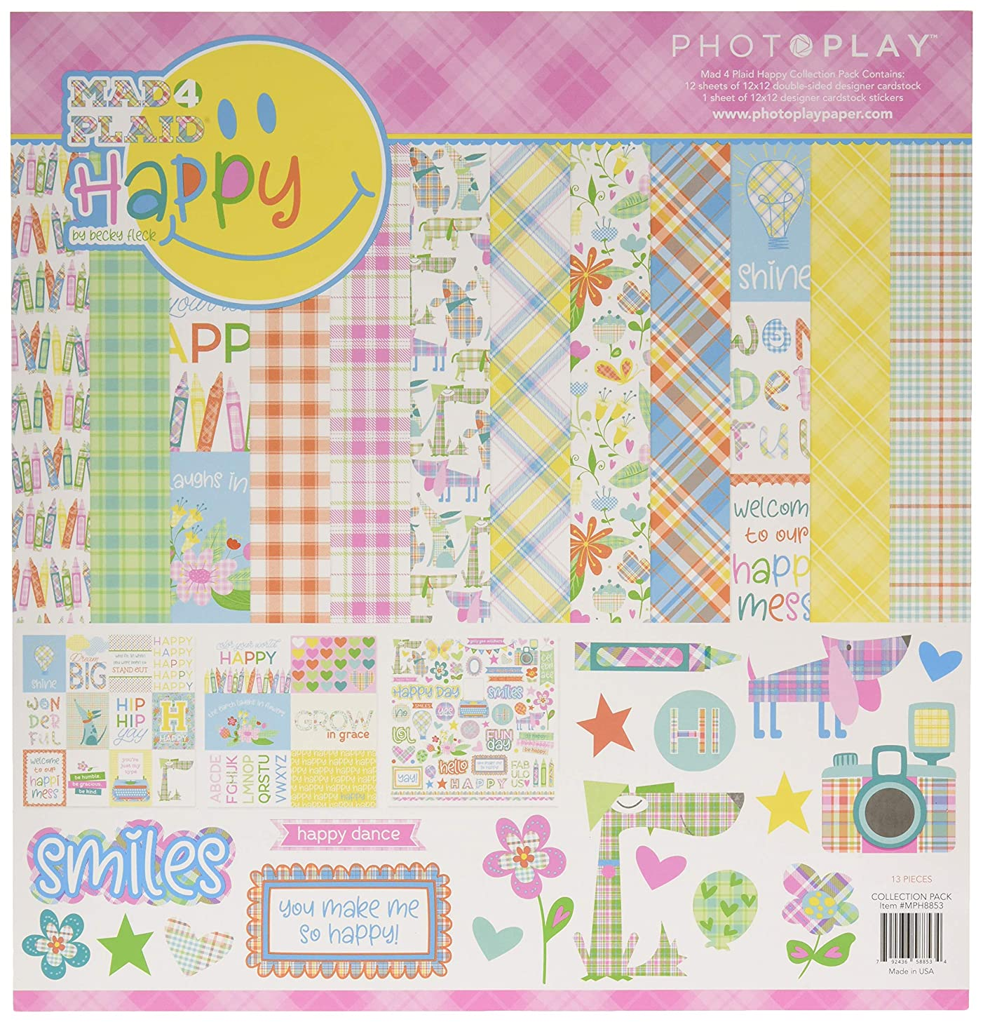 Photoplay Paper MPH8853 M4P Happy Collection Pack