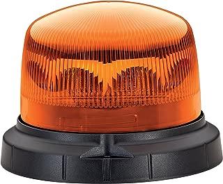 HELLA 012480001 KLX 1 Fixed Mount LED Beacon Warning Light, 1 Flashing Pattern, Waterproof, 9-30VDC, Amber