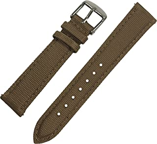 Quick Release Nylon Sailcloth Watch Band, Nylon Full Grain Leather Watch Strap with Stainless Steel Metal clasp