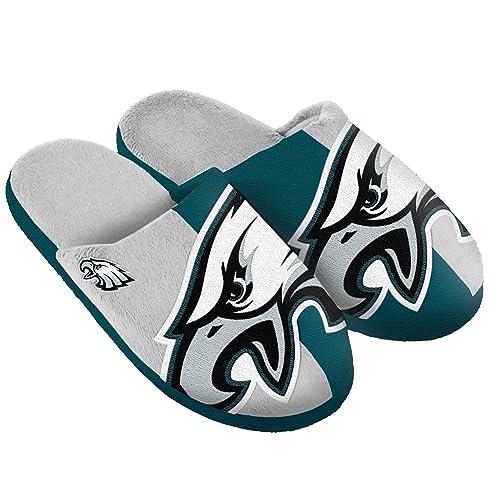 05d07a08 Philadelphia Eagles Split Color Slide Slipper Large