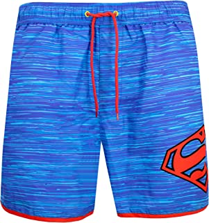 DC Comics Mens Superman Swimming Trunks