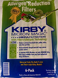Kirby Vacuum Cleaner Disposable Cloth Paper Bags White Hepa Bags 6 Pack Universal Style Fits ALL Kirby Models