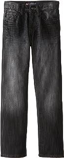 Southpole - Kids Big Boys' Regular Straight Fit Denim Pant In Streaky Fabric