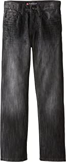 Southpole - Kids Big Boys' Regular Straight Fit Denim Pant in Streaky Fabric