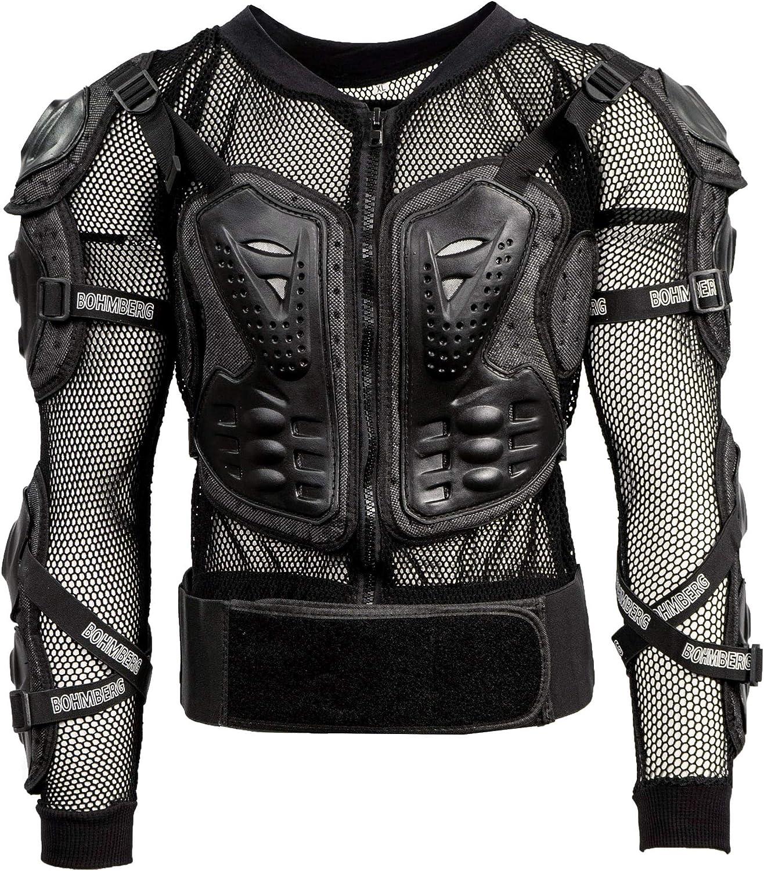 Bohmberg Body Protector Safty Jacket Protektoren Hemd Brustpanze Motorrad Schutz Protektoren Motorradjacke Hemd Brustschutz Fallschutz Schutzjacke Xxl Auto