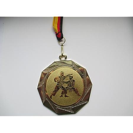 - mit Gravur - Pokale - Pokal f/ür viele Sportarten Etui Fanshop L/ünen Boxen Boxer e603.1 50mm 1 mit Emblem/&Band blau Metall Medaille