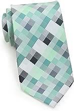 Bows-N-Ties Men's Necktie Patchwork Plaid Microfiber Satin Tie 3.25 Inches