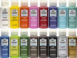 FolkArt Gloss Finish Acrylic Enamel Craft Set Designed for Beginners and Artists, Non-Toxic Formula Perfect for Glass and ...