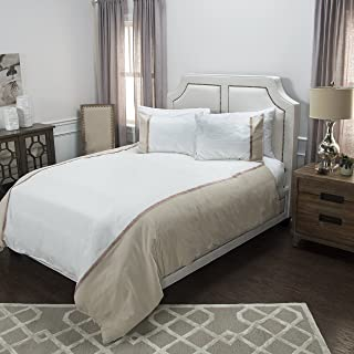 Rizzy Home Wilmington Mill Natural Hotelier Collection Duvet, DFSBT4443IVNT1498, Ivory/Natural, King