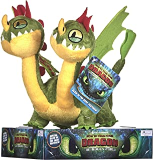 How to Train Your Dragon 3 Barf and Belch Soft Toy-32cm, Multi-Colour, 32 cm