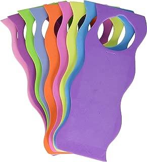 Darice 1022-90 9-Piece Foamie Wavy Style Door Hangers, 6 mm, Assorted Colors, Assorted Bright Colors