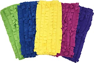 Xanitize Fleece Sweeper Mop Refills for Swiffer - Reusable, Dry Duster, for Hardwoods, Laminates - 5-pack Rainbow II