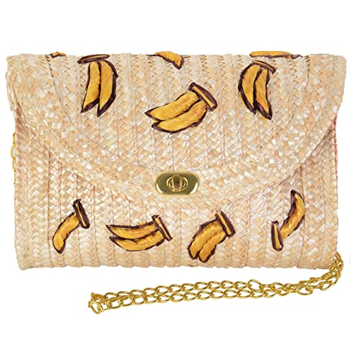 6947274e28b Pulama Straw Crossbody Crochet Shoulder Bag Pom Pom Tassel Pinapple Fringe  Fashion Clutch - 2