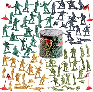 IQ Toys 200 Piece Army Set Soldiers in Combat Mission WW2 Era, Play war with The American, Japanese, Germany, and British Army