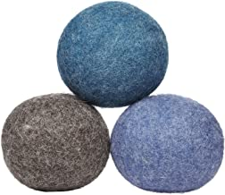 product image for LooHoo Wool Dryer Balls Deluxe 3-Pack 100% Domestic Wool, Made in Maine, USA, Reusable, Natural Fabric Softener