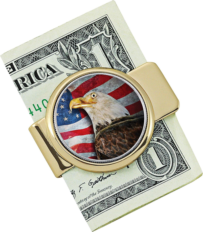 Coin Money Clip JFK Half Dollar with American Eagle