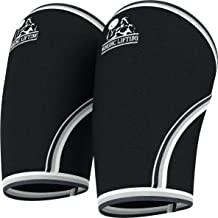 Nordic Lifting Elbow Sleeves (1 Pair) Support & Compression for Weightlifting, Powerlifting,Cross Training & Tennis -5mm Neoprene Sleeve for The Best Performance -Both Women & Men 1 Year Warranty