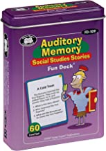 Super Duper Publications Auditory Memory Social Studies Stories Fun Deck Flash Cards Educational Learning Resource for Children