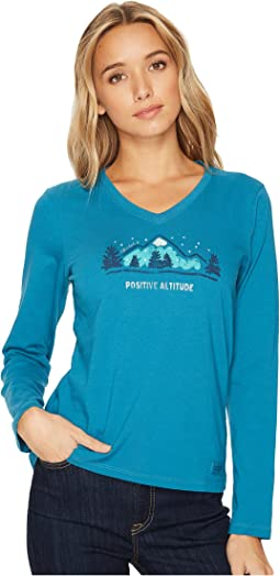 Life is Good - Positive Altitude Winter Long Sleeve Crusher Vee