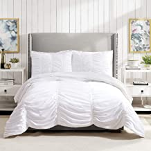 Best white ruched comforter twin xl Reviews