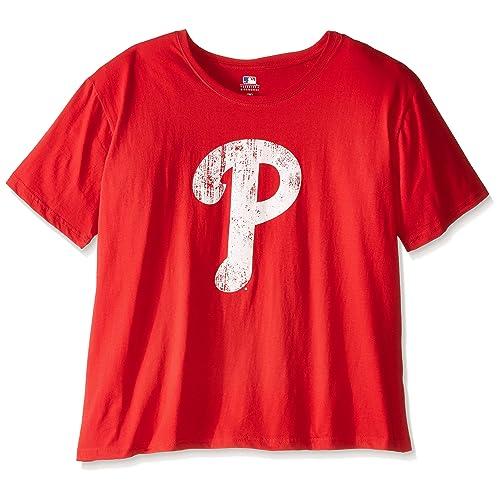 78097a83836 Profile Big   Tall MLB Philadelphia Phillies Women s Short Sleeves Scoop  Neck Top