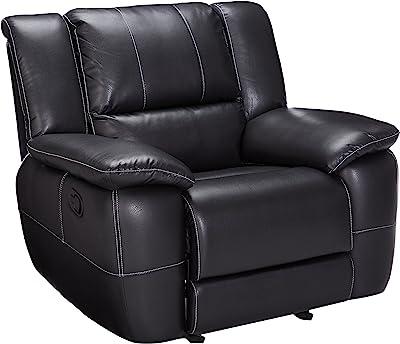 Amazon Com Bonded Leather Rocker Recliner Living Room
