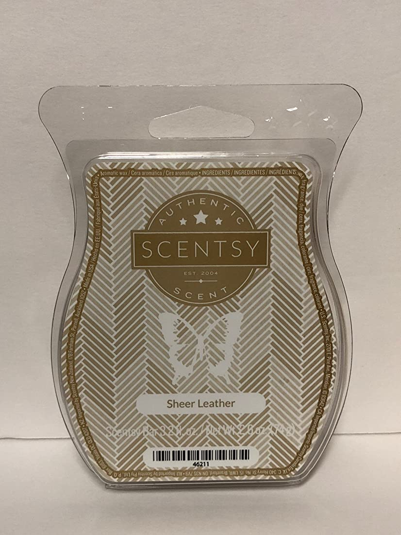 Sheer Leather Scentsy Wickless Candle Tart Wax 90ml, 8 Squares